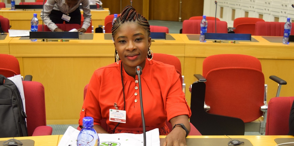 Ms. Stella Kromanson, FAWE Sierra Leone Alumnus and survivor of conflict shared her experience of gender discrimination during the Sierra Leone war in her bid to access education upon returning home post displacement.