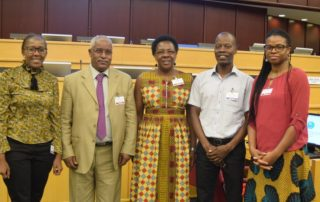 From left: Juliet Kimotho (FAWE), Dr. Kebede Kassa Tsegaye (IGAD), Martha Muhwezi (FAWE), Jackson Nsabo (Save the Children) and Victoria Egbetayo (GPE)