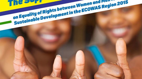 The Supplementary Act on Equality of Rights between Women and Men for Sustainable Development in the ECOWAS Region 2015