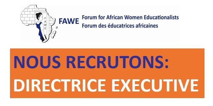 FAWE recrute une Directrice Exécutive