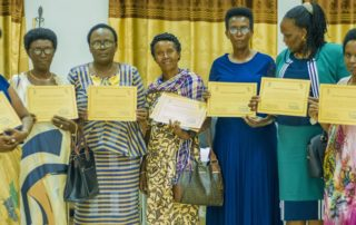 International Day of Women and Girls in Science, Burundi: Some of the participants who received certificates | Journée Internationale des Femmes et des Filles de Science, Burundi: Quelques participants ayant reçu des certificats